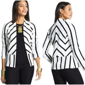 Chicos | NWT Striped Ottoman Jacket Cardigan